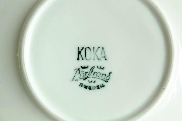 北欧雑貨 スウェーデン ロールストランド Hertha Bengtsson KOKA カップ&ソーサー