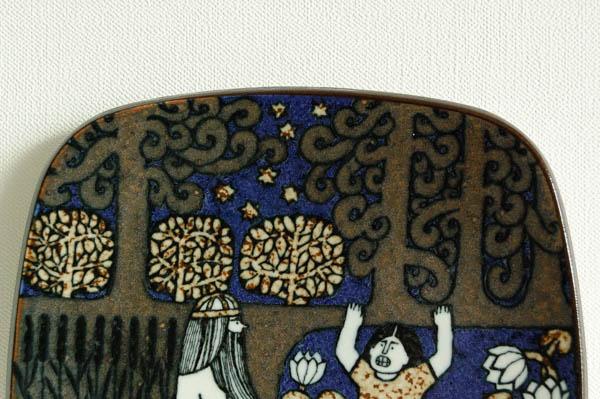 北欧雑貨 フィンランド ARABIA アラビア ビンテージ 1981 イヤープレート ライヤ・ウオシッキネン