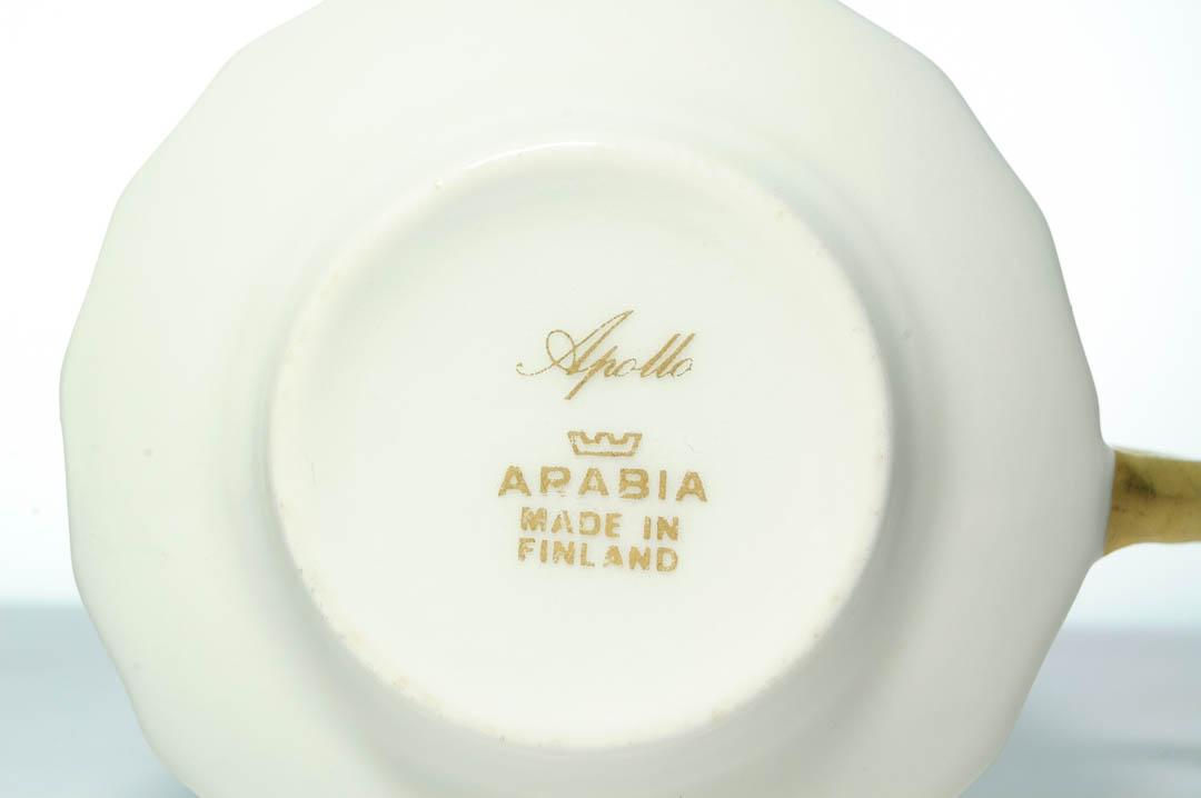 北欧雑貨 フィンランド ARABIA アラビア Richard Lindh リカルド・リンド カップ&ソーサー apollo