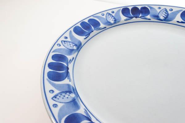 北欧雑貨 Finland ARABIA プレート Blue Laurel Olga Osol