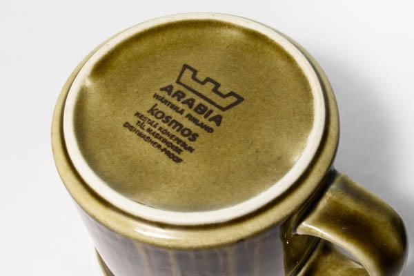 北欧雑貨 フィンランド ARABIA アラビア Kosmos コスモス マグカップ&ソーサー
