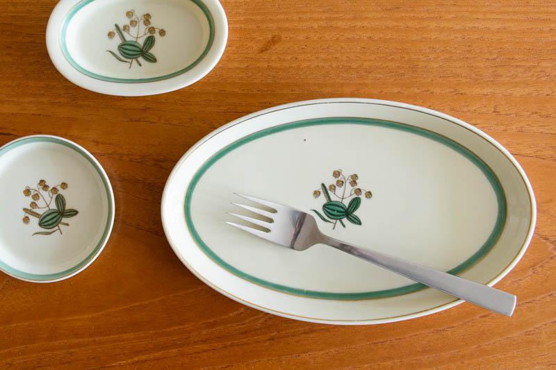 北欧食器 デンマーク ロイヤルコペンハーゲン Quaking Grass Thorkild Olsson オーバルプレート