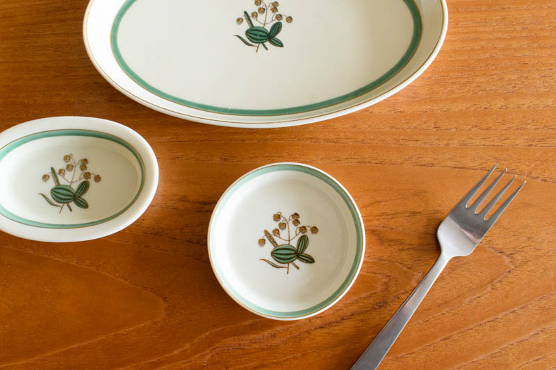 北欧食器 デンマーク ロイヤルコペンハーゲン Quaking Grass Thorkild Olsson 小皿