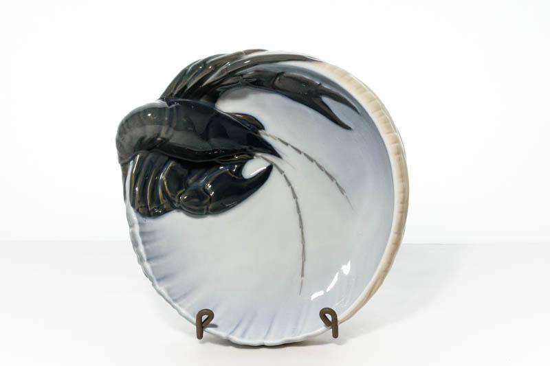 北欧雑貨 デンマーク ROYAL COPENHAGEN Erik Nielsen lobster ボウル 絵皿