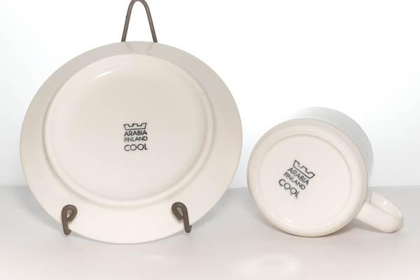 北欧食器 フィンランド ARABIA COOL Heikki Orvola カップ&ソーサー プレート