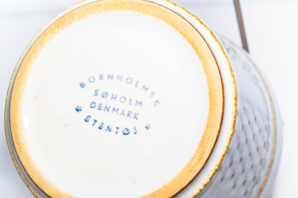 北欧食器 デンマーク SØHOLM Granit White Maria Philippi シュガーボウル
