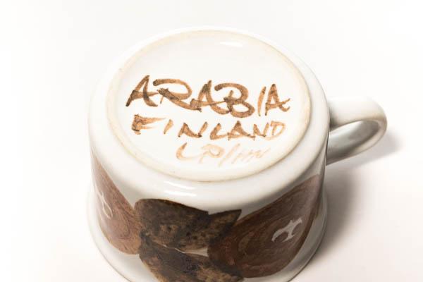 北欧雑貨 フィンランド ARABIA Ulla Procope Rosmarin デミタス カップ&ソーサー